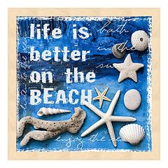 Metaverse Art 'Life is Better on the Beach' Framed Wall Art