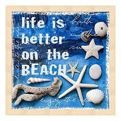 Metaverse Art 'Life is Better on the Beach' Framed Wall Art