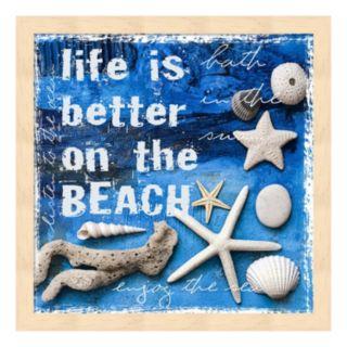 """Metaverse Art """"Life is Better on the Beach"""" Framed Wall Art"""