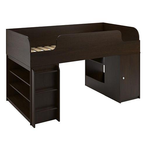 Cosco Elements Bookshelf & Toy Box Loft Bed