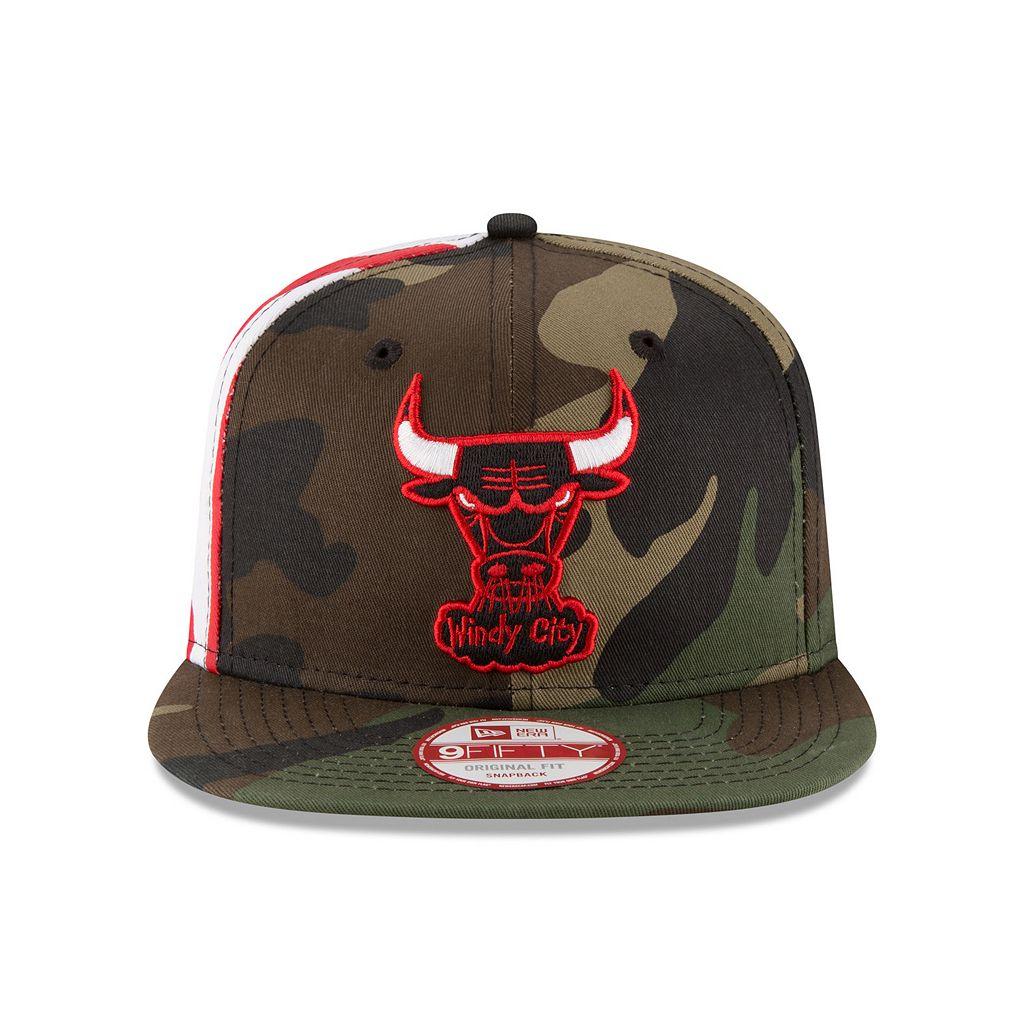 Adult New Era Chicago Bulls Flag Side 9FIFTY Snapback Cap