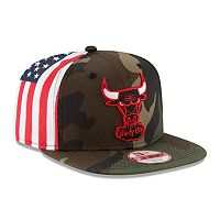Adult New Era Chicago Bulls Flag Side 9FIFTY Snapback Cap
