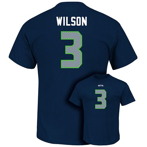 Men's Majestic Seattle Seahawks Russell Wilson Eligible Receiver Tee