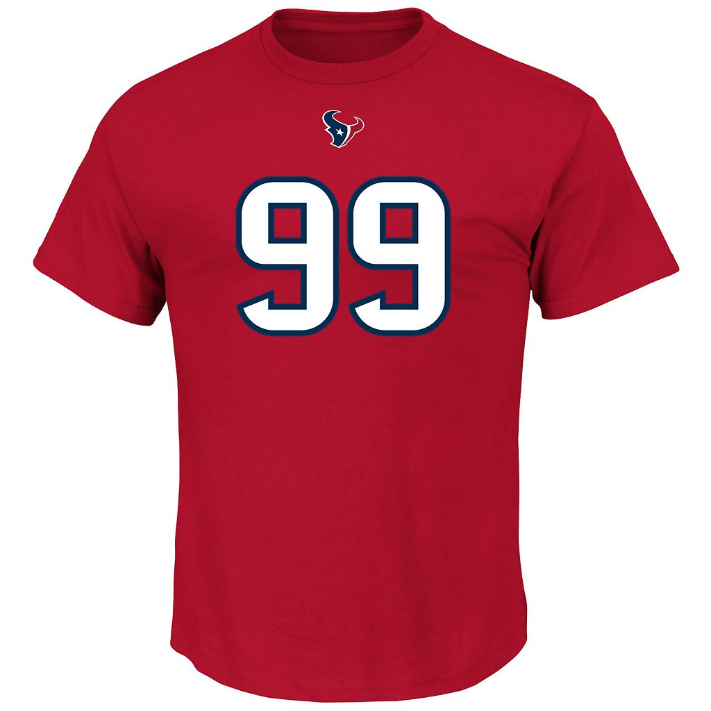 Men's Majestic Houston Texans J. J. Watt Eligible Receiver Tee