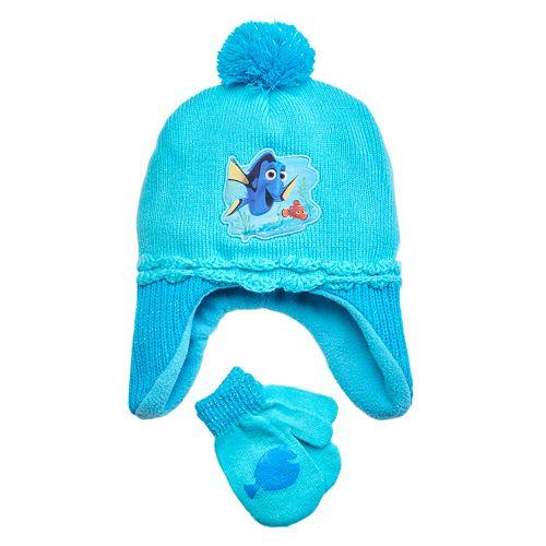 5e4c8219737 Disney   Pixar Finding Dory Nemo   Dory Toddler Girl Fleece Hat   Mittens  Set