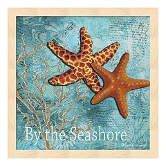 Metaverse Art 'By the Sea Shore' Framed Wall Art