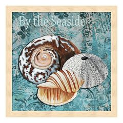 Metaverse Art 'By the Seaside' Framed Wall Art
