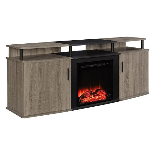 Sonoma Outdoor Fireplace. Altra Carson Fireplace TV Stand