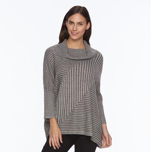 012e8e15f17 Women s AB Studio Ribbed Cowlneck Sweater