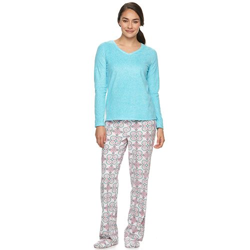 Women s Goodnight Kiss Pajamas  3-Piece V-Neck Microfleece Pajama Set d2857b0a6