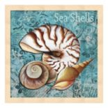 "Metaverse Art 'Sea Shells"" Framed Wall Art"