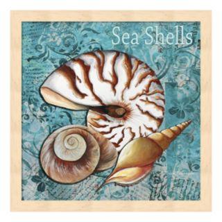 """Metaverse Art 'Sea Shells"""" Framed Wall Art"""