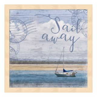 "Metaverse Art ""Sail Away"" Framed Wall Art"