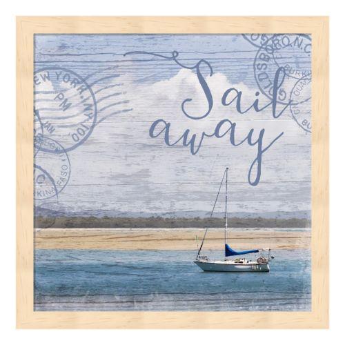"""Metaverse Art """"Sail Away"""" Framed Wall Art"""