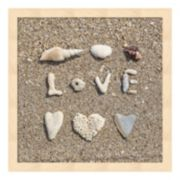 "Metaverse Art Beach ""Love"" Framed Wall Art"