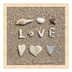 Metaverse Art Beach 'Love' Framed Wall Art