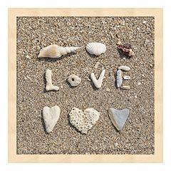 Metaverse Art Beach 'Love' Framed Wall Art