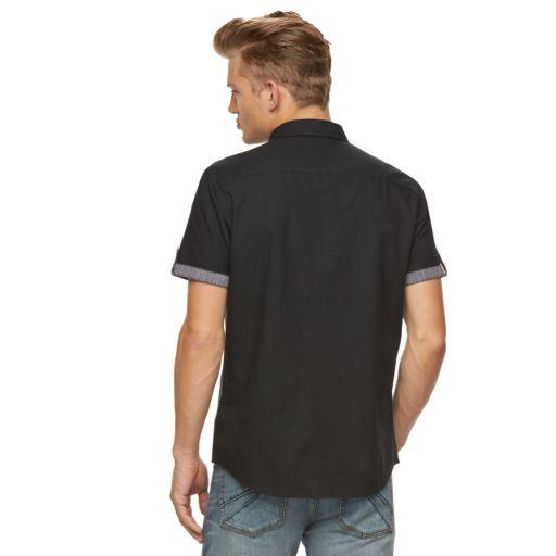 Big & Tall Rock & Republic Colorblock Button-Down Shirt