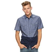 Big & Tall Rock & Republic Colorblock Button-Down Shirt