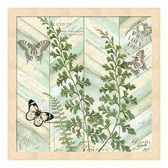 Metaverse Art Chevron Botanical I Framed Wall Art