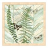 Metaverse Art Chevron Botanical II Framed Wall Art