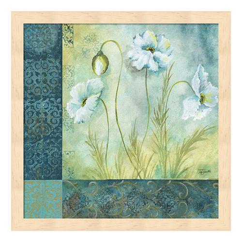 Metaverse Art White Poppy Garden I Framed Wall Art
