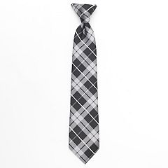 Boys Chaps Plaid Clip-On Tie