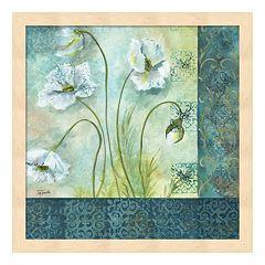 Metaverse Art White Poppy Garden II Framed Wall Art