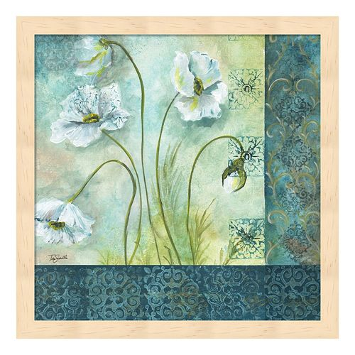 Metaverse Art White Poppy Garden II Framed Wall Art