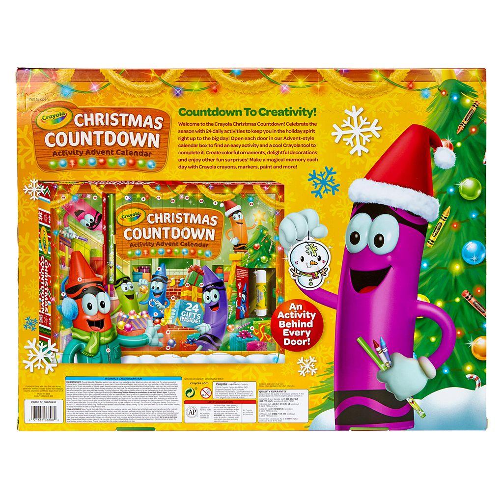 Crayola Christmas Countdown 24-Day Activity Advent Calendar
