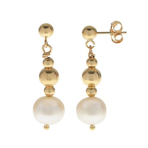 PearLustre by Imperial 14k Gold Filled Freshwater Cultured Pearl Beaded Drop Earrings