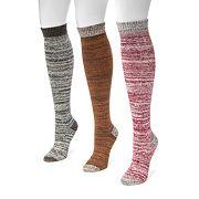Women's MUK LUKS 3 pkMarled Knee-High Socks