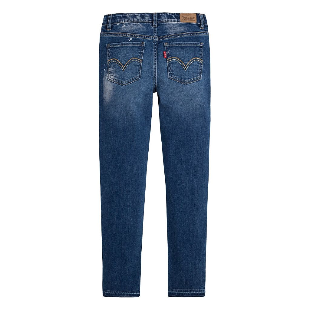 Girls 7-16 Levi's Ripped Super Skinny Ankle Jeans