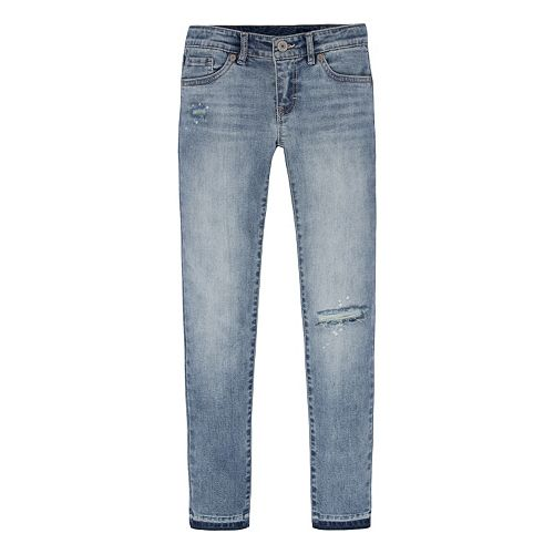 a16c3c97179 Girls 7-16 Levi's Ripped Super Skinny Ankle Jeans