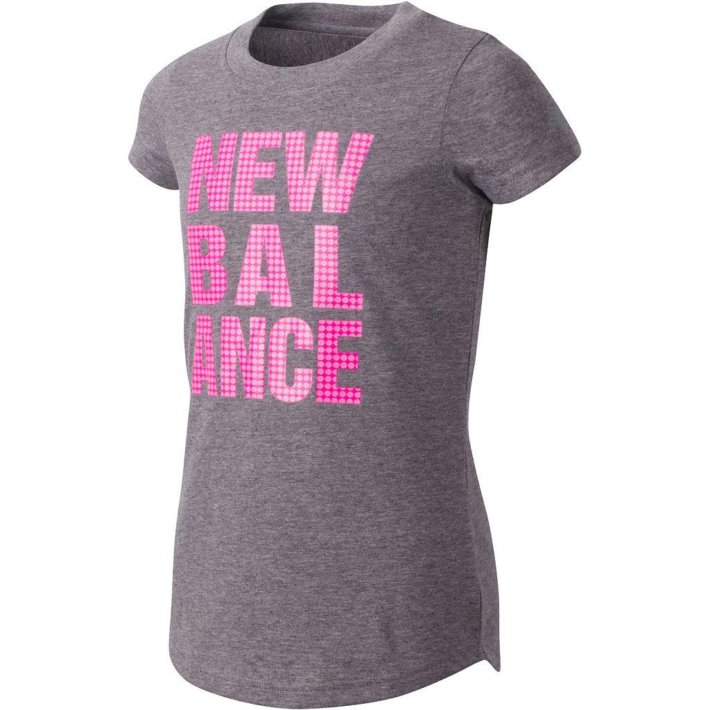 Girls 7-16 New Balance Heather Graphic Tee
