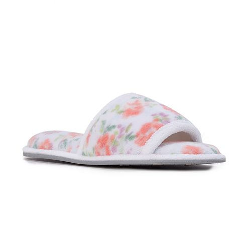 Women's Dearfoams Microfiber Terry Quilted Slide Slippers