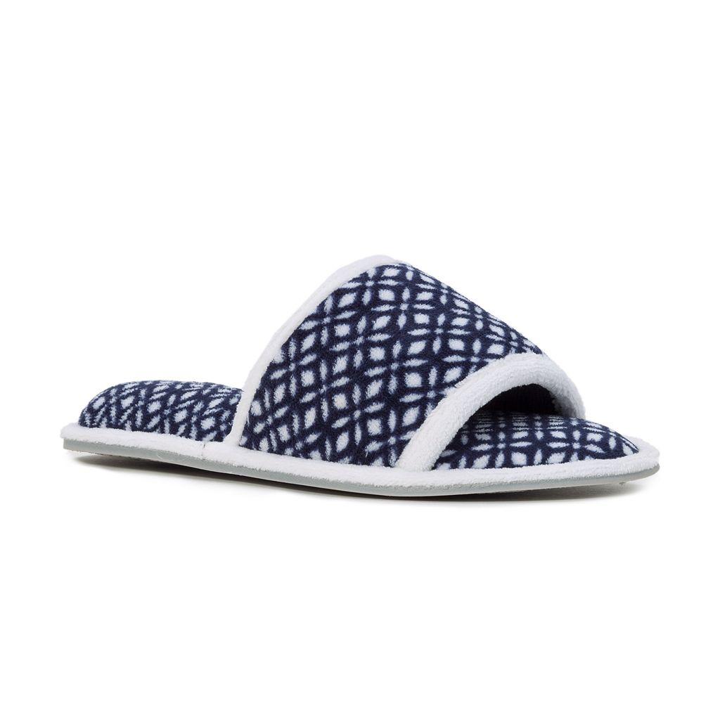 Women's Dearfoams Microfiber Terry Quilted Slide Slippers