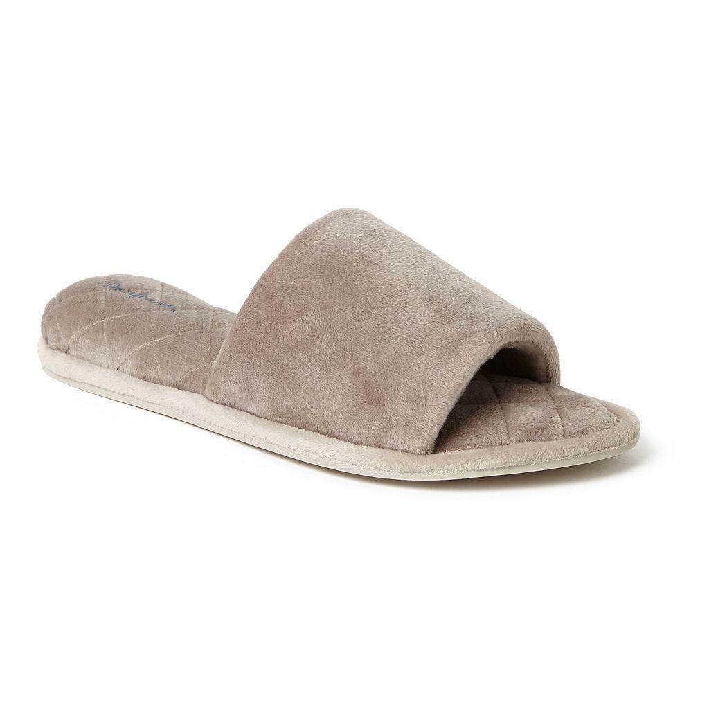 Women's Dearfoams Microfiber Velour Slide Slippers