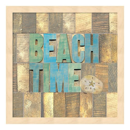 Metaverse Art Beach Time II Framed Wall Art