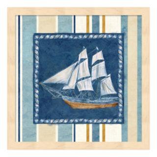Metaverse Art Nautical Stripe II Framed Wall Art