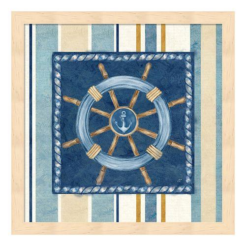 Metaverse Art Nautical Stripe IV Framed Wall Art