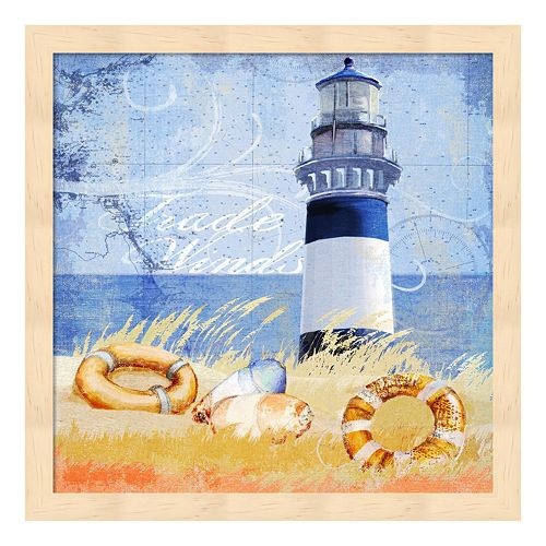 Metaverse Art Trade Winds Lighthouse Framed Wall Art