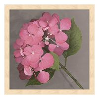 Metaverse Art Pink Hydrangea Framed Wall Art