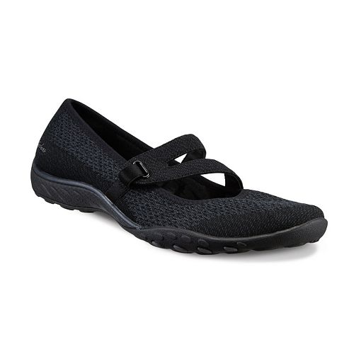 The Best Cheap  Skechers Relaxed Fit Breathe Easy Lucky Lady Women's Mary Jane Shoes Black