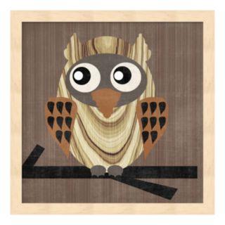 Metaverse Art Owl 1 Framed Wall Art