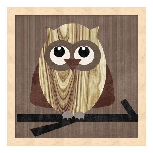 Metaverse Art Owl 2 Framed Wall Art