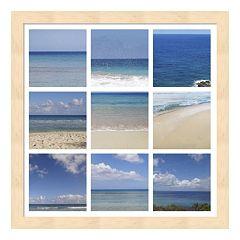 Metaverse Art Beach Collage Framed Wall Art