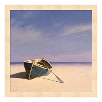 Metaverse Art Beached Boat 1 Framed Wall Art