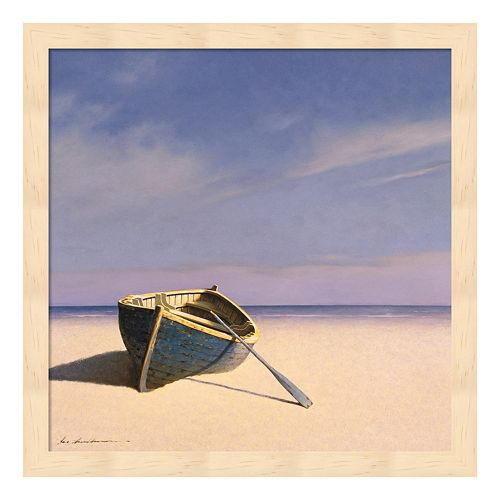 Metaverse Art Beached Boat 1 Framed Wall Art