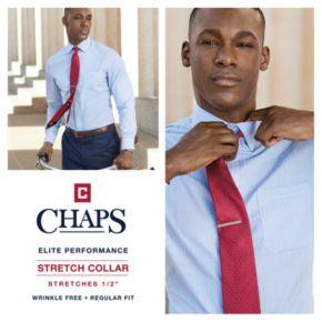 Big & Tall Chaps Regular-Fit Stretch-Collar Wrinkle-Free Dress Shirt